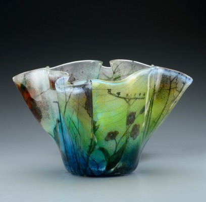 Vase on gradiant grey 7